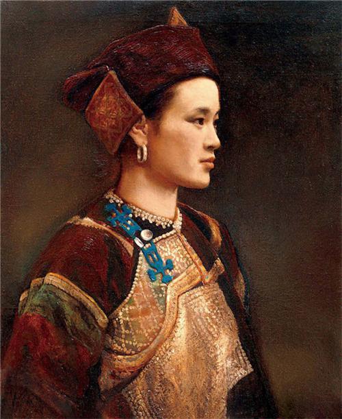 《汉傣族女肖像》50×60cm 1995年