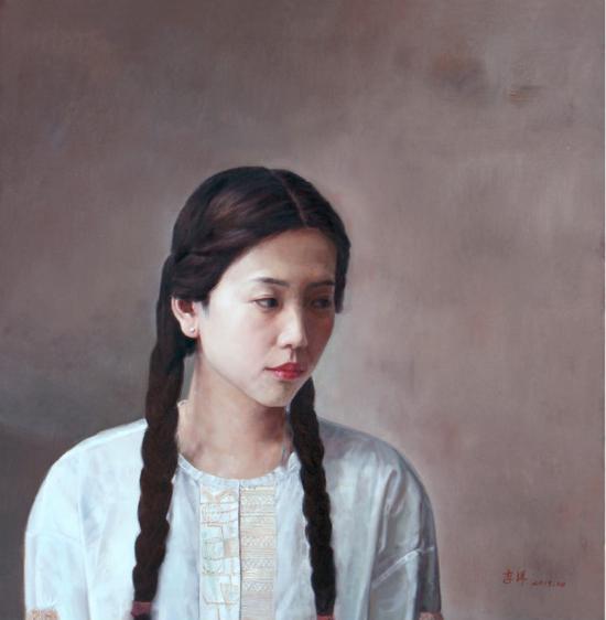 图片说明:李洋,《微风吹过》,70x70cm,布面油画,2017年