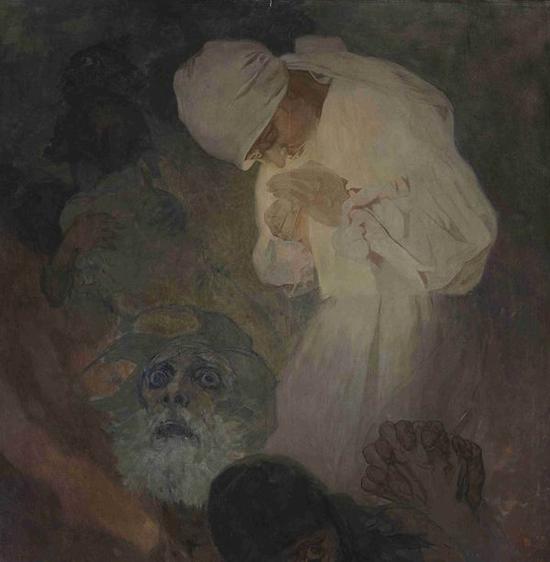 慕夏《希望之光》1933年 布面油画