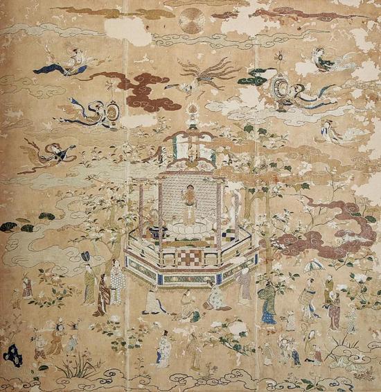 ▲《刺绣佛誔生图》,长崎,最教寺