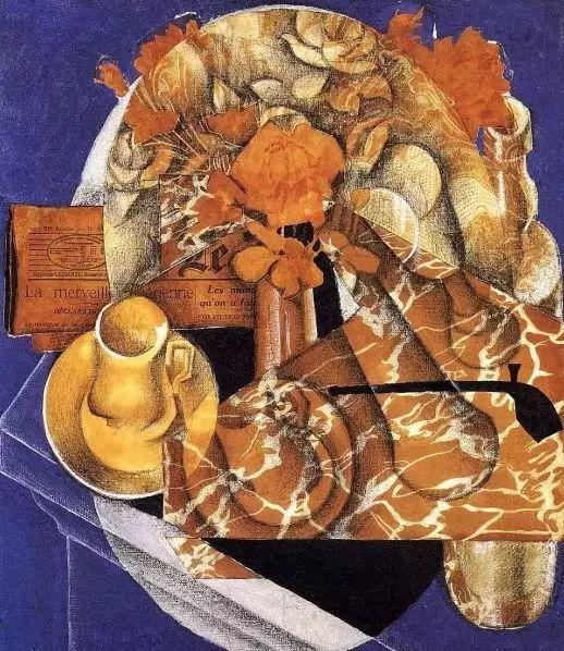 胡安·格里斯的《花卉》(1914),格特鲁德收藏至1946年