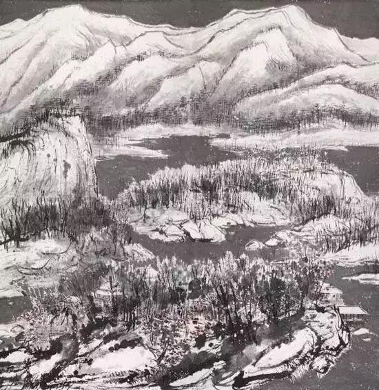 北京保利2017年秋拍上,崔如琢指墨山水《指墨山水十二条屏》2.415亿元成交。