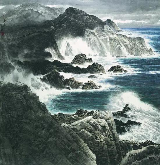 沧海无浅波,许钦松,123×121cm,2000年