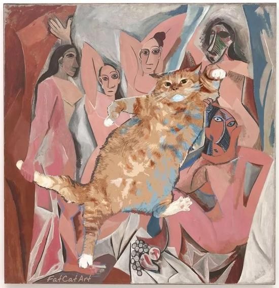 the Cat and the girls of Avignon