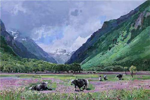 《四姑娘山》120×80cm