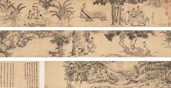 《西园雅集图》 李公麟台北故宫藏