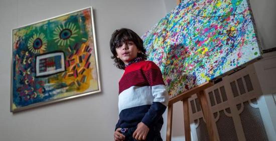 7岁画童被称学前毕加索