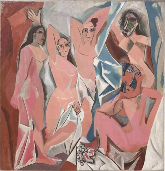 毕加索26岁的作品《亚维农的少女》,现藏于纽约现代艺术美术馆(MoMA)