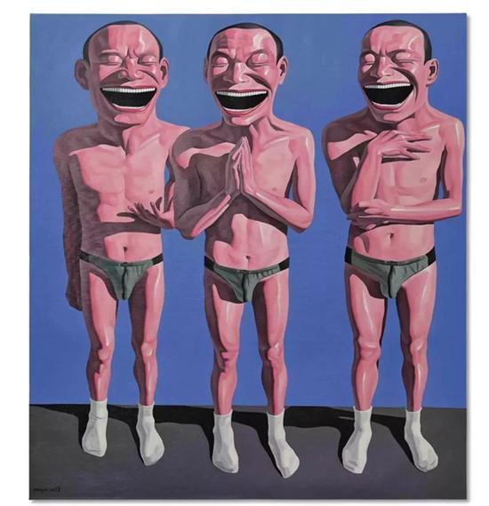 岳敏君 《无题》 二〇〇三年作 油画画布 220 x 196 公分 3,000,000 - 5,000,000港元