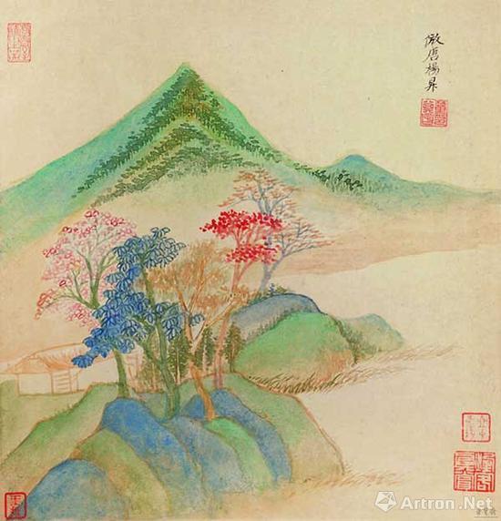 日本 椿椿山 花鸟画 110.2cmx44.4cm 纸本设色