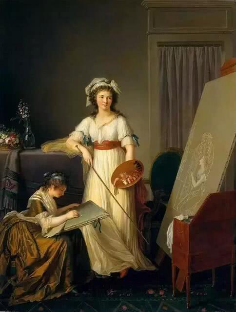 《画家的工作室》 1796年 美国纽约现代美术馆藏