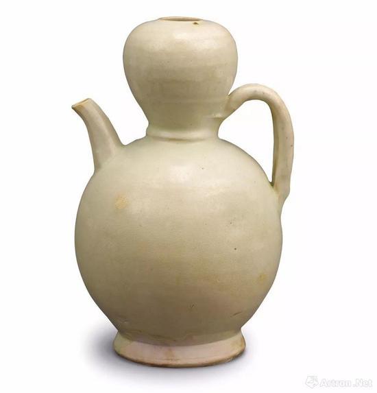 唐 青绿釉葫芦形执壶