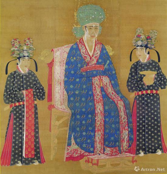 《宋仁宗后坐像》 絹本设色 轴172.1x165.3公分,现藏台北故宫博物院