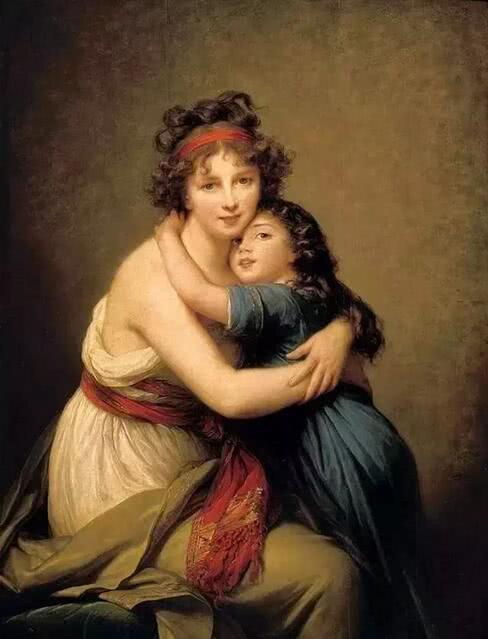 《画家和她的女儿》 1789年 巴黎卢浮宫藏