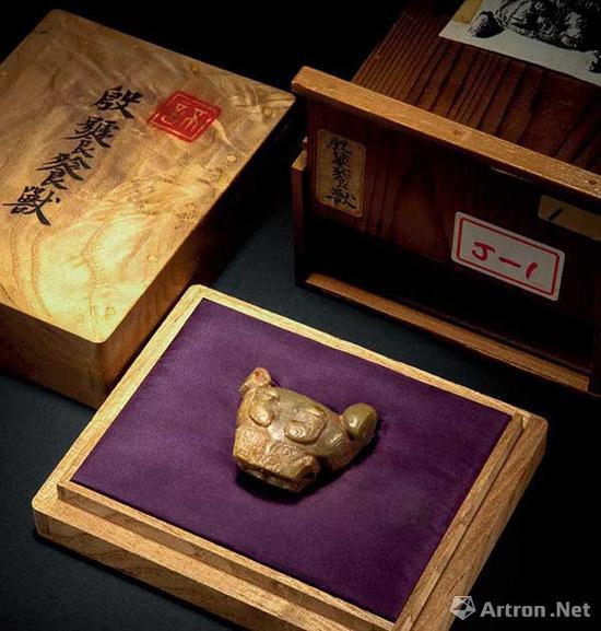 兽首玉饰成交价:184万元