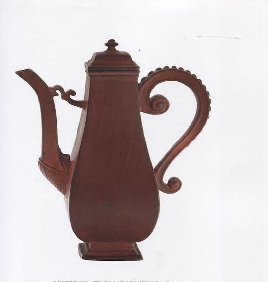 伯特格尔炻器咖啡壶,1710-1713 德国杜塞尔多夫黑提恩斯——德国陶瓷博物馆藏