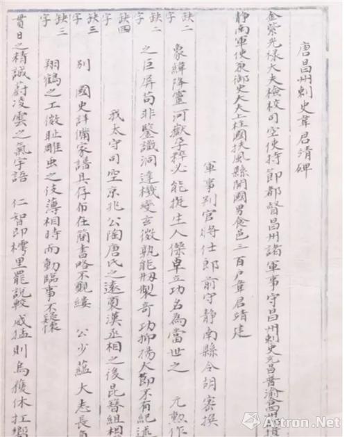 《大足金石录》手抄本清张澍现藏西安碑林博物馆