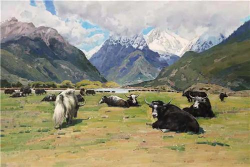 《藏王故里系列-1》120×80cm