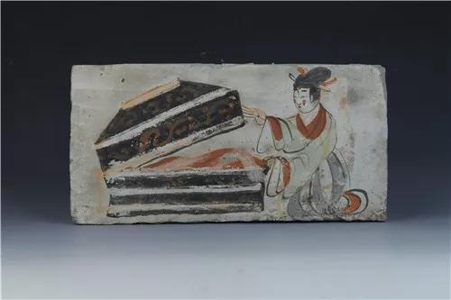 魏晋?仕女开箱图壁画砖,高台县博物馆藏