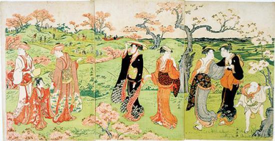《飞鸟山花见》,鸟居清长,江户时代?18世纪