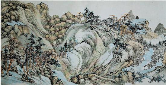 余绍宋归砚楼娱亲图卷(局部)现藏于龙游县博物馆