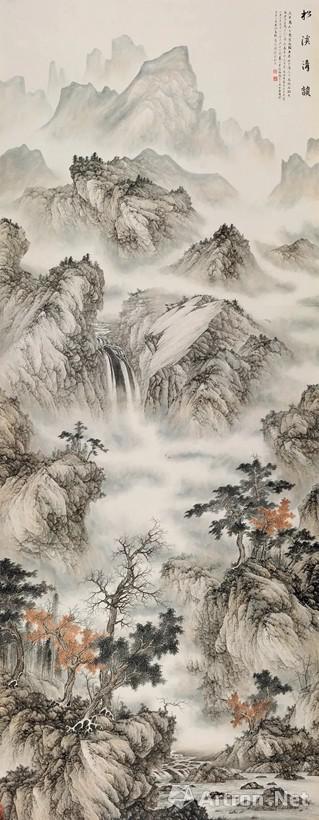 NO.27刘广 2011年作 松溪清韵 镜心