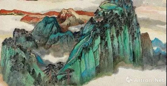 何海霞丁卯1987年作《 华岳清秋图》 镜心