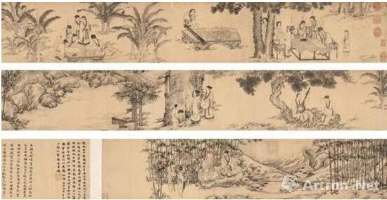《西园雅集图》 李公麟 台北故宫