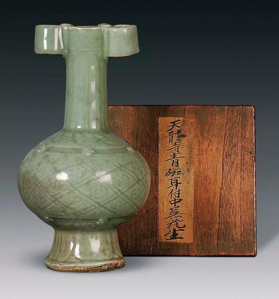 荣斋藏青瓷投壶