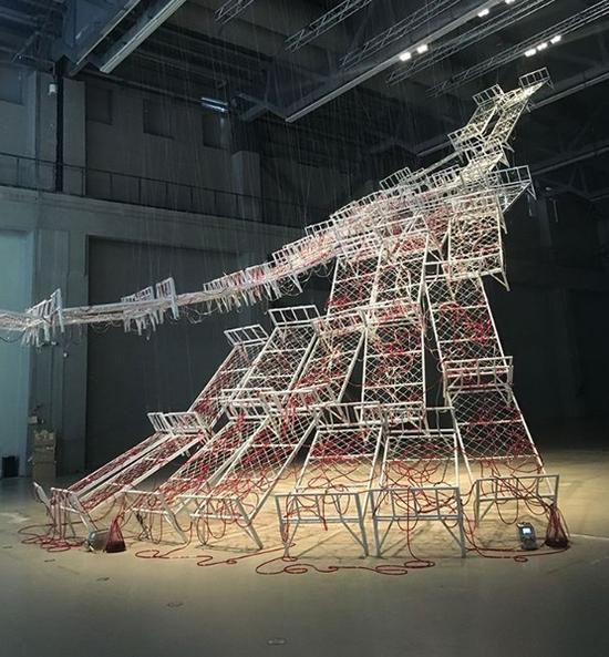 盐田千春,生命之流, 2017,上海当代艺术馆,中国