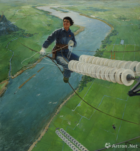 壮志凌云 袁浩 布面油画 1972年 广州美术学院美术馆藏
