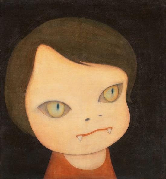 奈良美智《Sleepless Night(Cat)》压克力、画布 120×110cm 1999年作