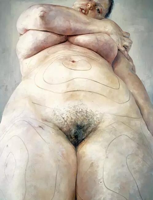 Jenny Savill,Plan,1993,Oil on canvas,274 x 213.5 cm ?Jenny Saville