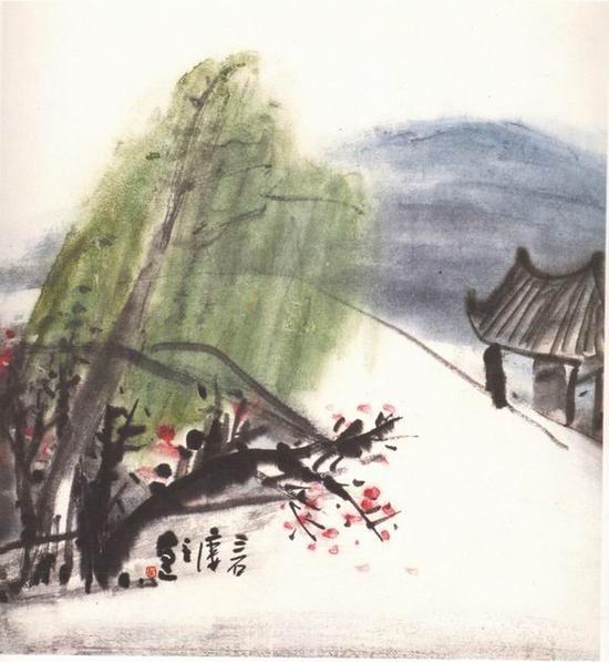 曾宓,《断桥下》40x35cm ,1982年