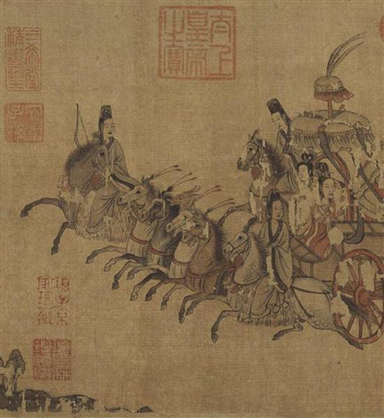 《洛神赋图》局部 绢本 顾恺之(宋摹本)