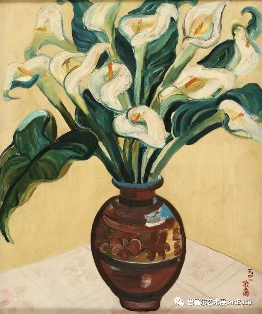 关紫兰,《慈菇花》(1941),图片中国美术馆提供