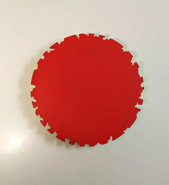 Aluminium disc,? 40cm,Spray paint on aluminium铝上喷漆,2018