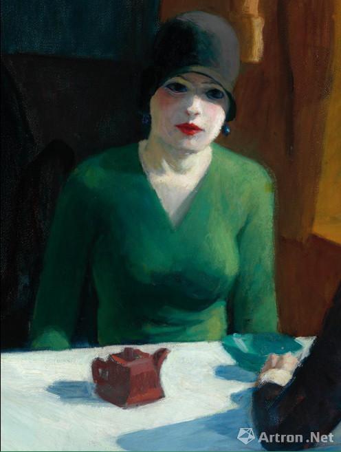 畫中女子由霍普的妻子扮演