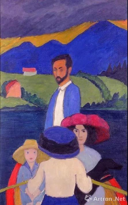 加布里埃勒·穆特画中的康定斯基