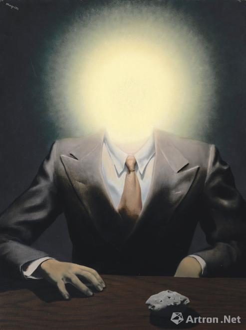 雷內?马格利特(Rene Magritte)《快乐原则》油彩画布 73 x 54.5cm 1937年作