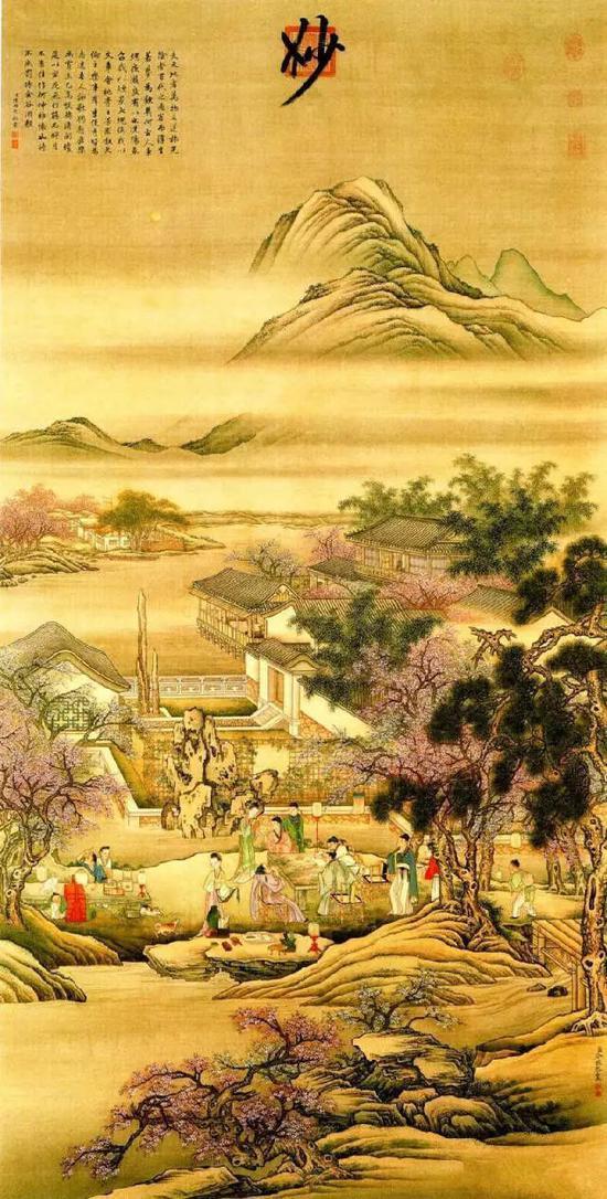 《春夜宴桃李园图》清 冷枚 台北故宫博物院藏