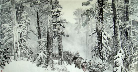 《红松林》500cm×300cm