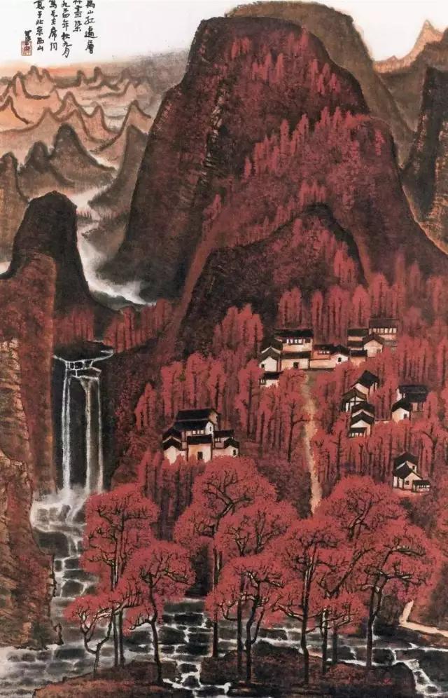 1964年创作的大幅《万山红遍》,北京保利2012春拍2.9325亿元拍出