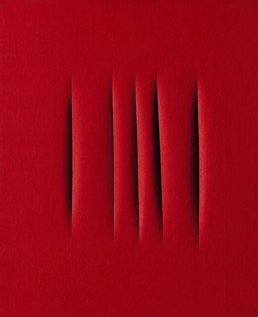 卢齐欧?封塔纳(Lucio Fontana)《空间概念,等待》   估价:15,000,000 - 24,000,000 港元   成交价:28,813,500 港元