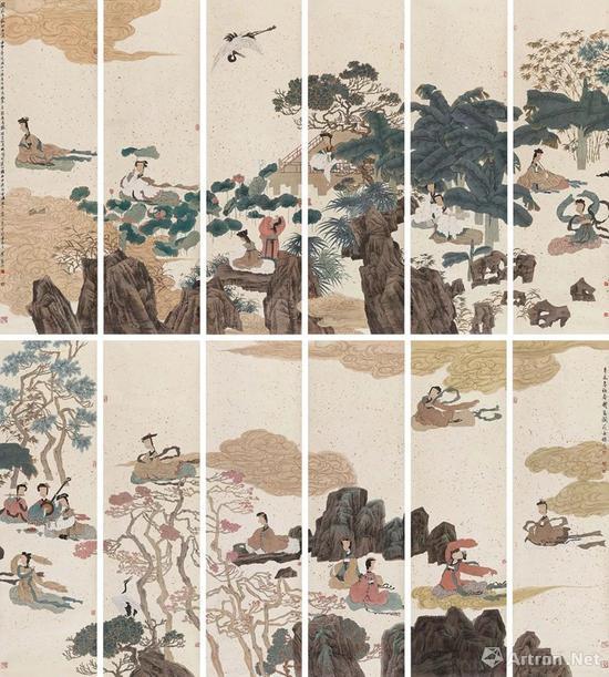 徐乐乐 辛未(1991年)壬申(1992)年作阆苑女仙图
