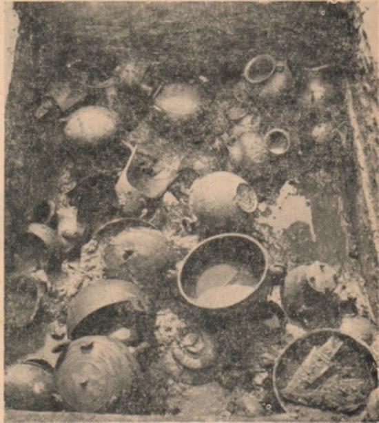 新都马家木椁墓腰坑内随葬器物分布情况