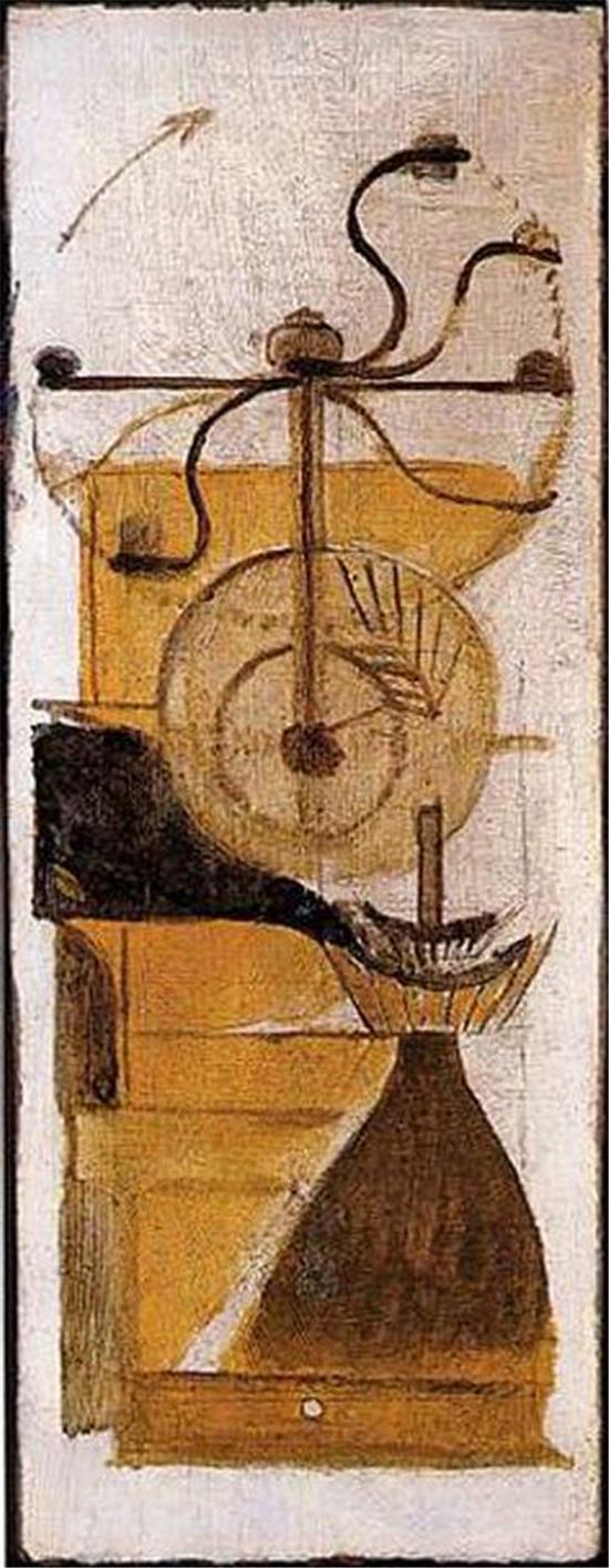 杜尚:《咖啡磨》,1911