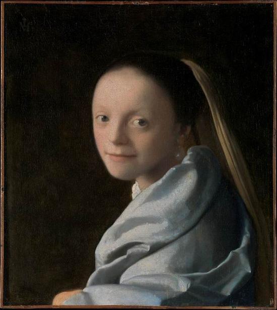 维米尔,《学习中的女子》,1665-1667年