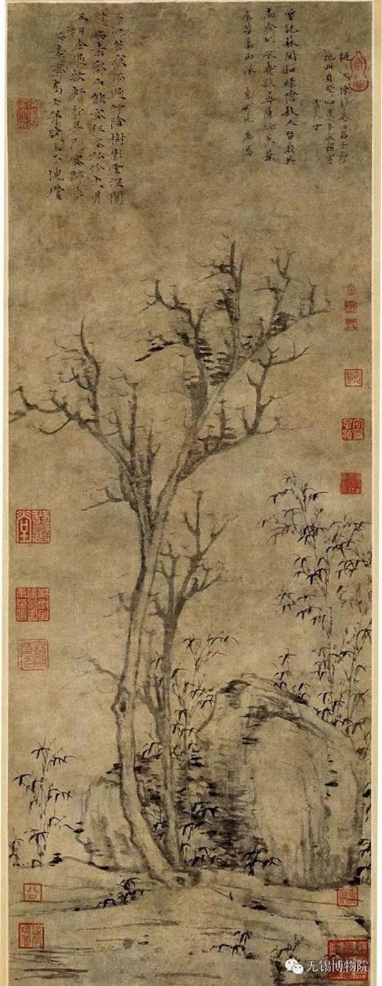 元 倪瓒 《苔痕树影图》 无锡博物馆藏