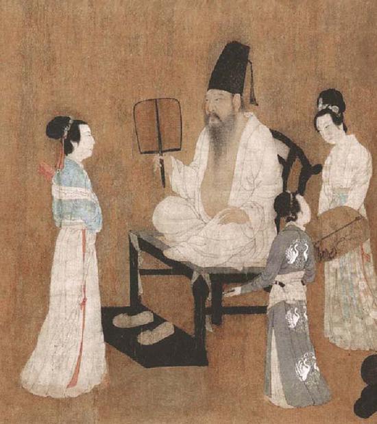 南唐顾闳中《韩熙载夜宴图》中的韩熙载形象